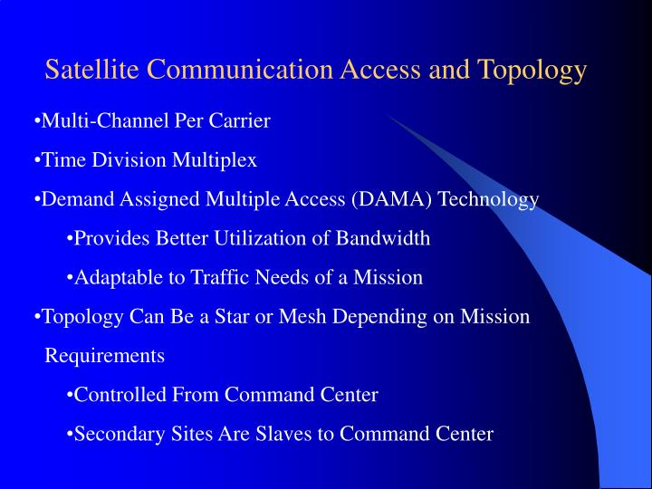 Satellite Communication Access and Topology