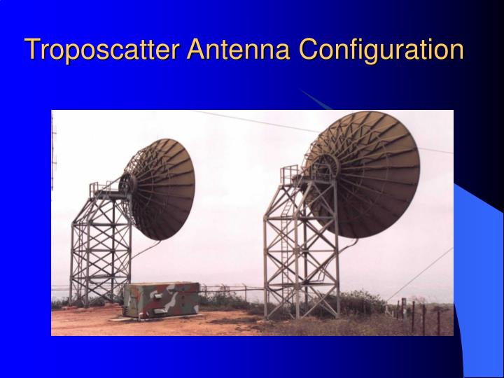 Troposcatter Antenna Configuration