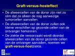 graft versus hosteffect