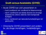 graft versus hostziekte gvhd