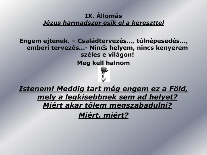 IX. Állomás
