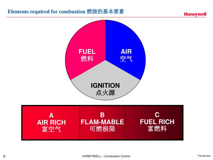 Elements required for combustion
