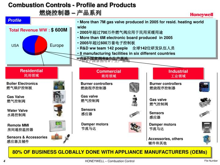 Combustion Controls - Profile and Products