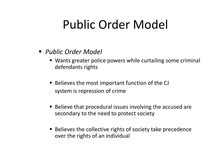 Public Order Model