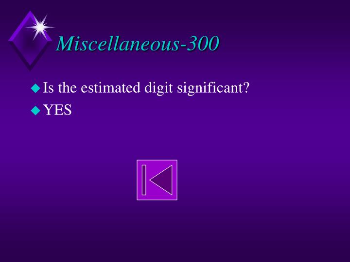 Miscellaneous-300