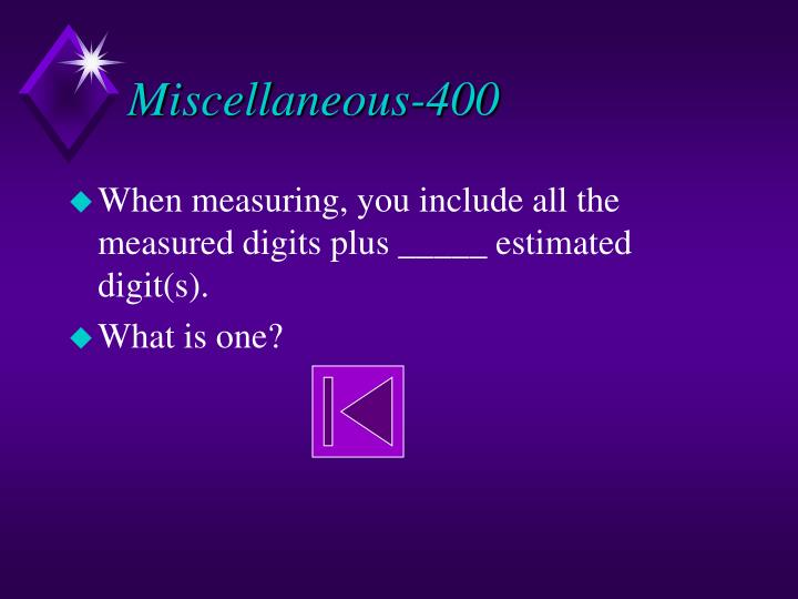 Miscellaneous-400