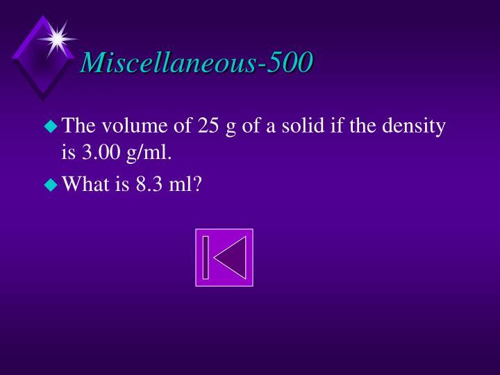 Miscellaneous-500