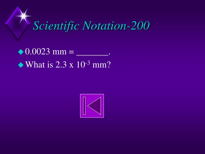 Scientific Notation-200