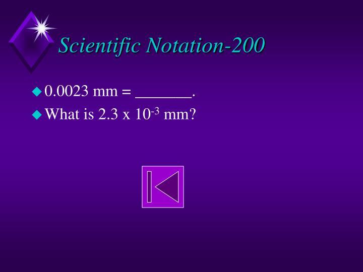 Scientific Notation-200
