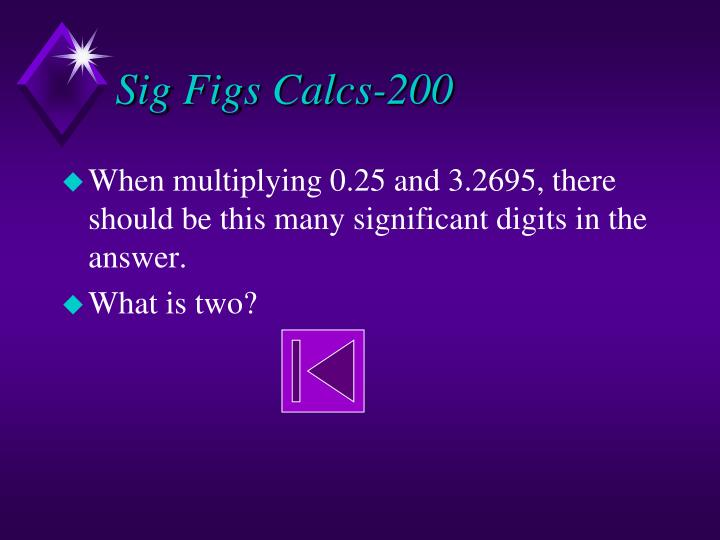 Sig Figs Calcs-200
