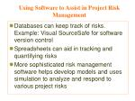 using software to assist in project risk management