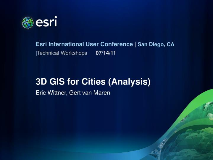 3d gis for cities analysis