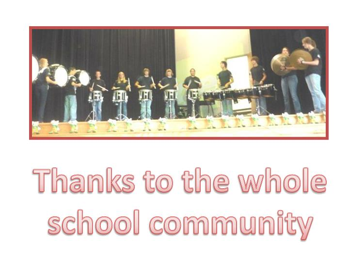 Thanks to the whole school community