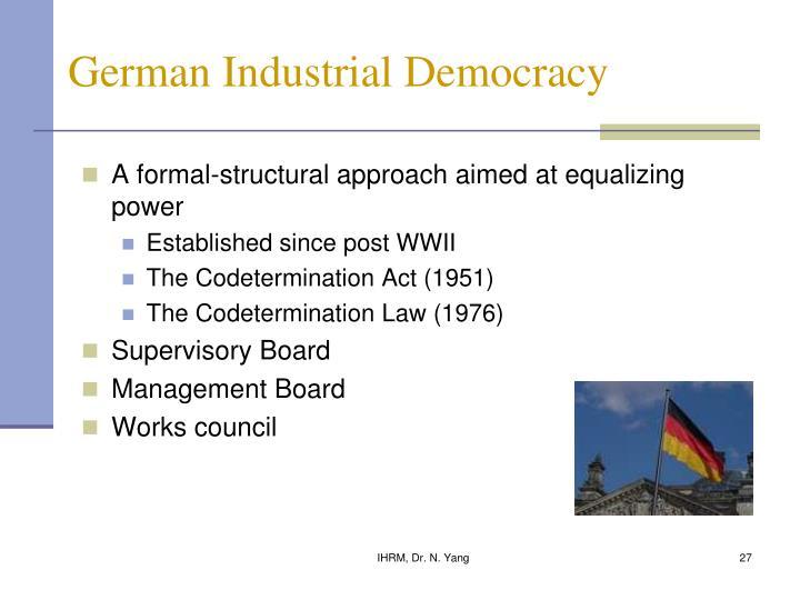 German Industrial Democracy