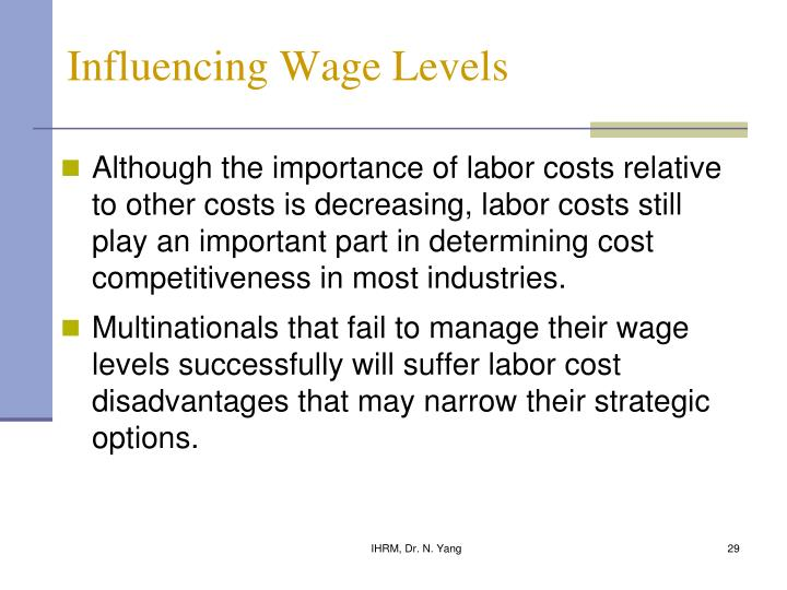 Influencing Wage Levels