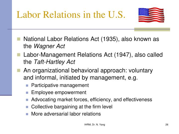 Labor Relations in the U.S.