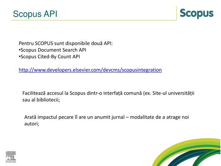 Scopus API