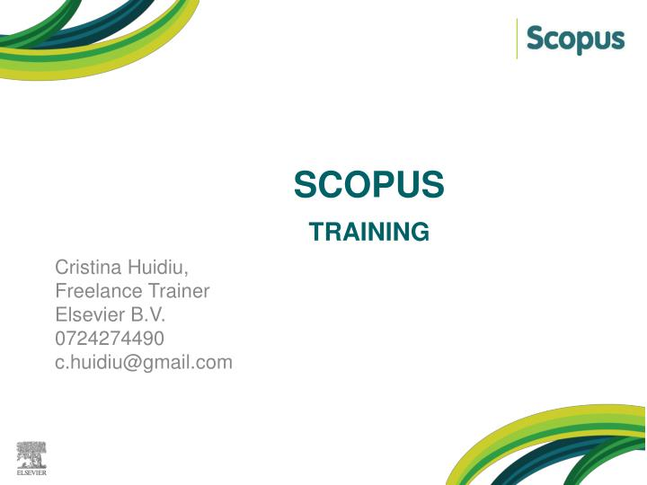 Scopus kl training