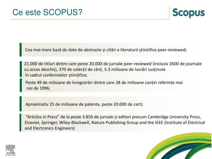 Ce este SCOPUS