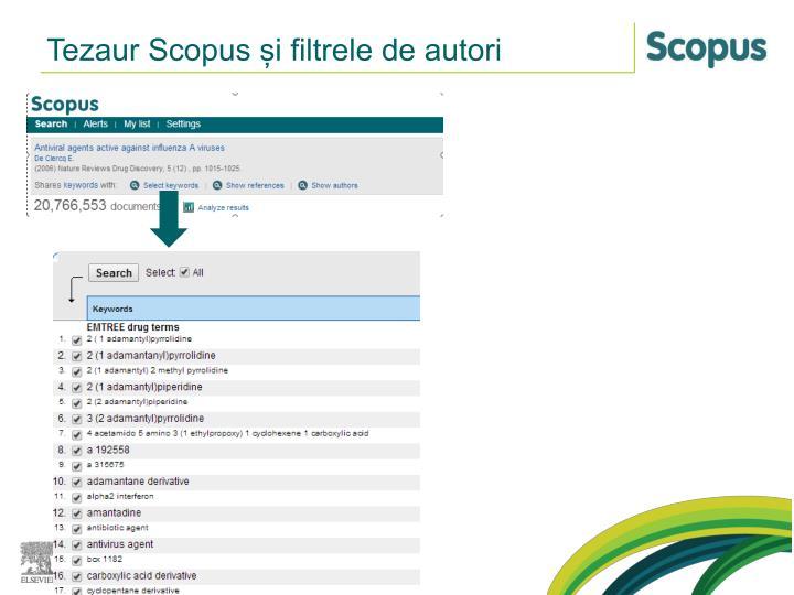 Tezaur Scopus și filtrele de autori