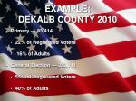 example dekalb county 2010