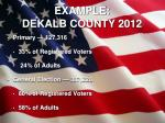 example dekalb county 2012