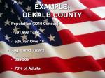 example dekalb county