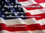 history house of representatives