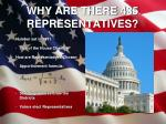 why are there 435 representatives