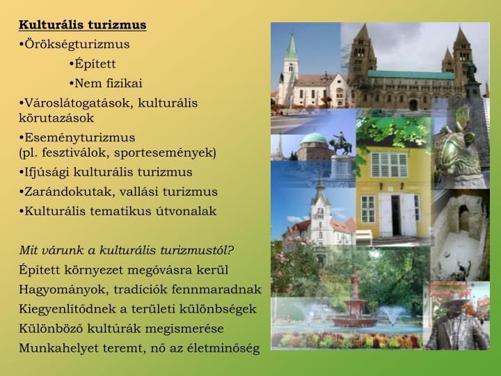 Kulturális turizmus