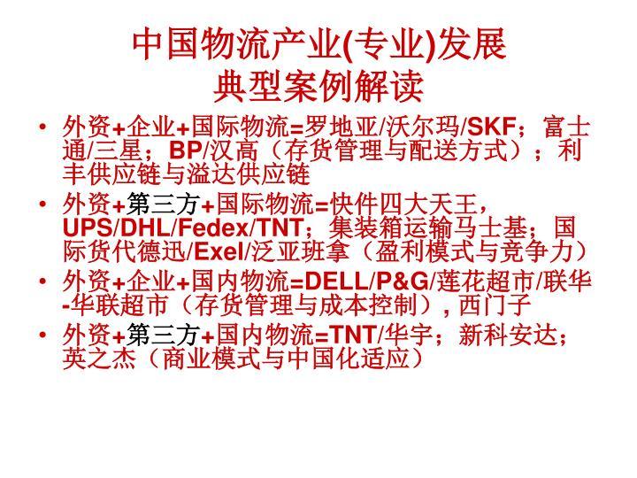 中国物流产业