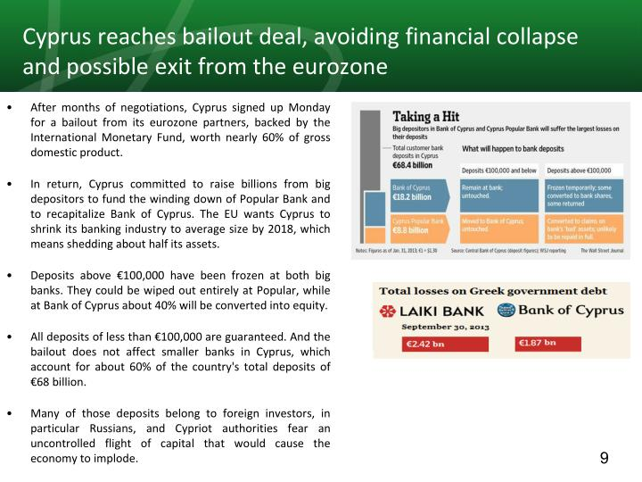 Cyprus reaches bailout deal, avoiding