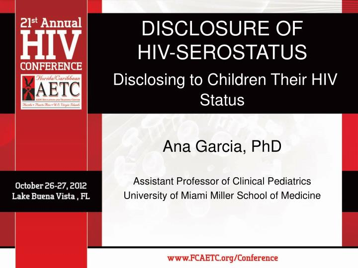 the impact of status disclosure from hiv While telling your family that you have hiv may seem hard, you should know that disclosure actually has many benefits—studies have shown that people who disclose their hiv status respond better to treatment than those who don't.