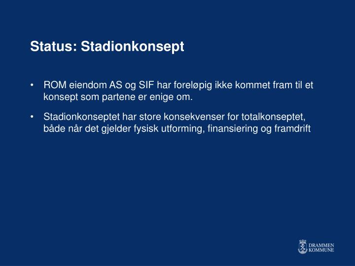 Status: Stadionkonsept