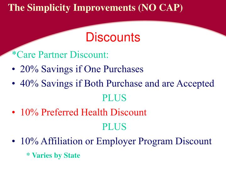 *Care Partner Discount:
