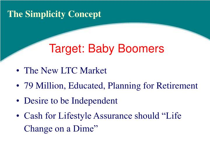 Target baby boomers