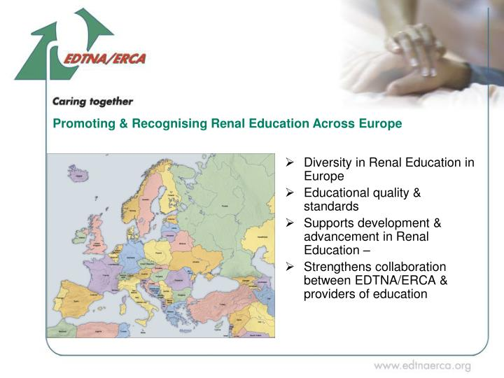 Promoting & Recognising Renal Education Across Europe