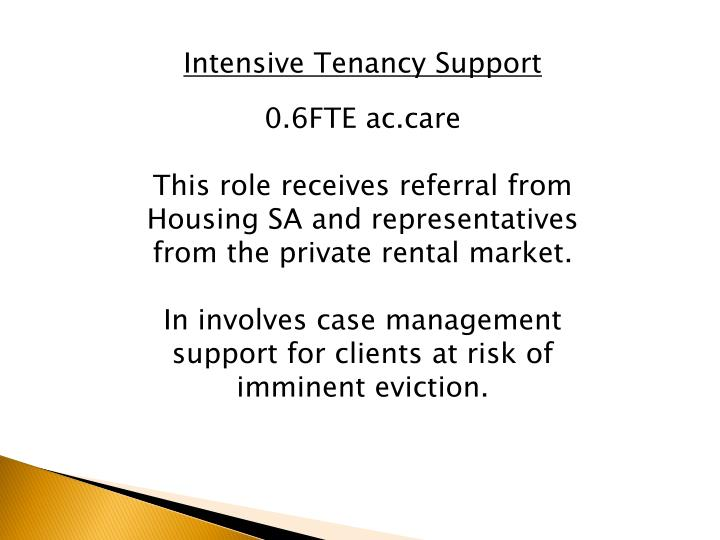 Intensive Tenancy Support