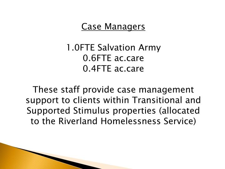 Case Managers