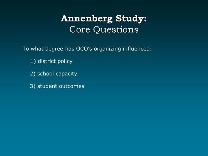 Annenberg Study: