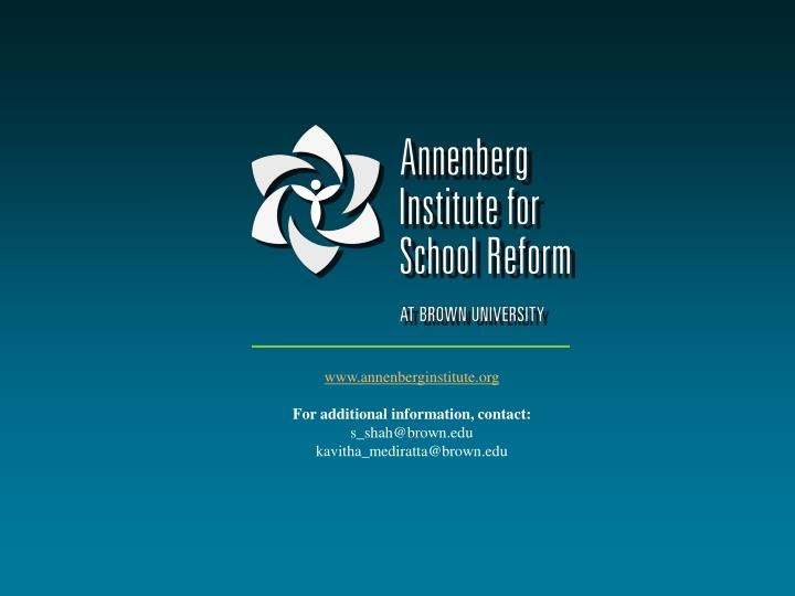 www.annenberginstitute.org
