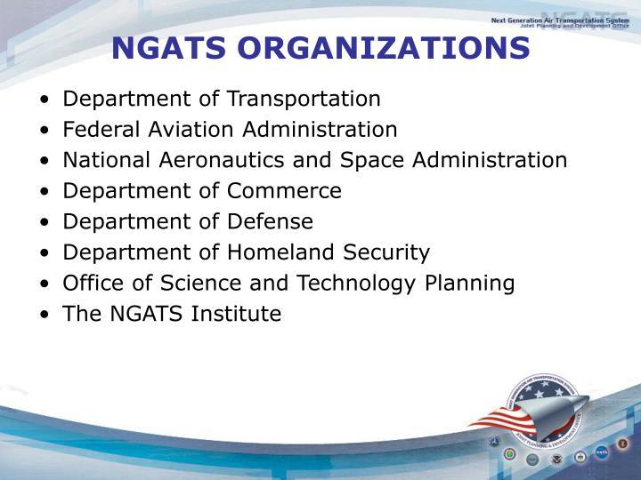 NGATS ORGANIZATIONS