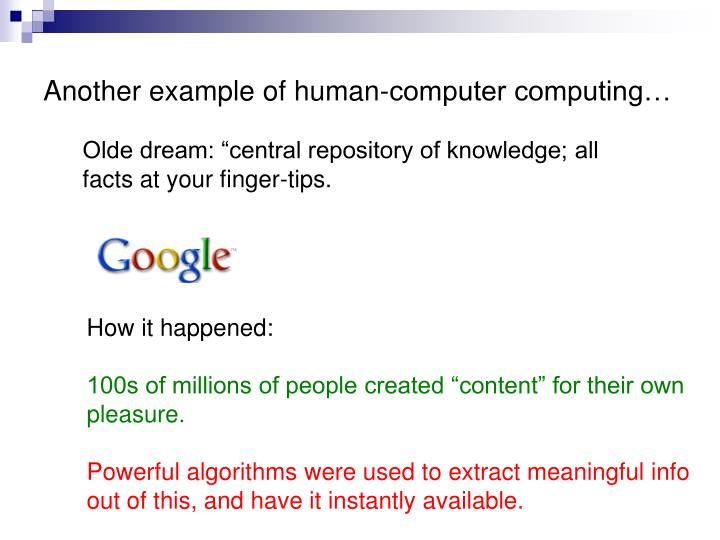 Another example of human-computer computing…