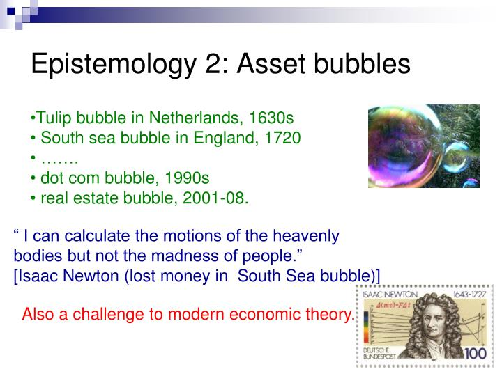 Epistemology 2: Asset bubbles