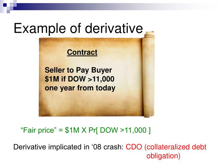 Example of derivative