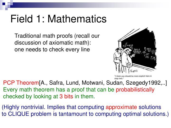 Field 1: Mathematics