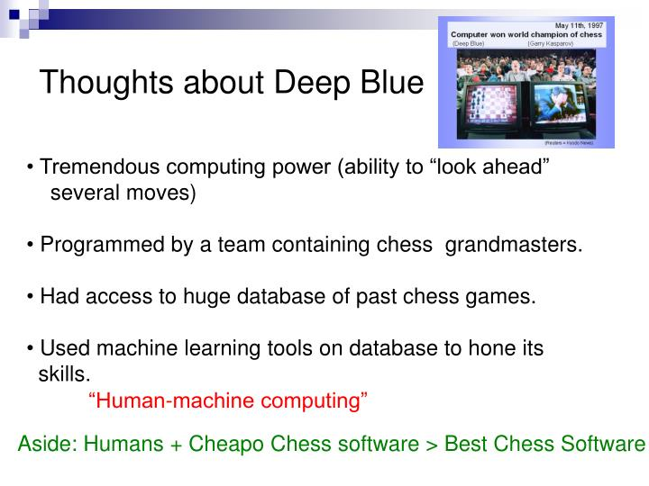 Thoughts about Deep Blue