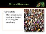 niche differences1