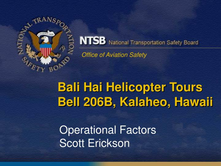 Bali Hai Helicopter Tours Bell 206B,