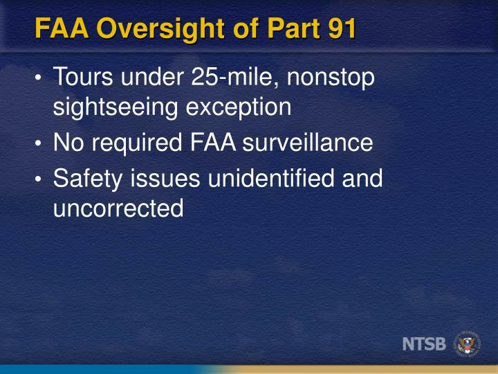 FAA Oversight of Part 91